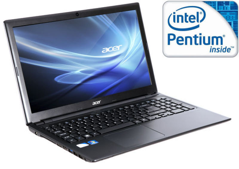 "Acer Aspire V5 Thin And Light Laptop, Intel Pentium Dc 967 1.3ghz, 4gb Ram, 320gb Hdd, 15.6"" Hd Led, Dvdrw, Intel Hd, Webcam, Bluetooth, Windows 7 Home Premium 64"