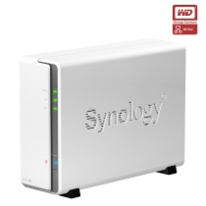 Synology DiskStation DS115j 4TB (1 x 4TB WD Red) 1 Bay Desktop NAS