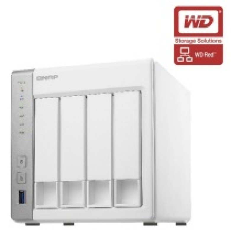 QNAP TS431 4TB (4 x 1TB WD Red) 4 Bay Desktop NAS