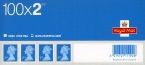 Royal Mail 2nd Class Postage Stamps - 100 Pack