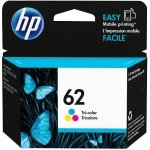 HP 62 Tri-Colour Original Ink Cartridge - Standard Yield 165 Pages - C2P06AE