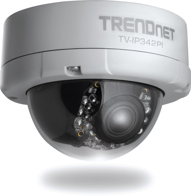 TRENDnet Outdoor 2MP Full HD VariFocal PoE DayNight Dome Network IP Camera