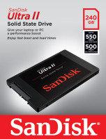 SanDisk SDSSDHII-240G-G25 240GB Ultra II SATAIII 2.5 inch SSD
