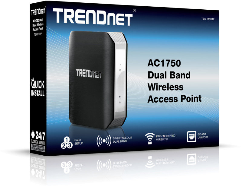 TRENDnet TEW-815DAP AC1750 Dual Band Wireless Access Point
