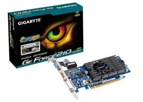 Gigabyte GeForce G210 1GB DDR3 VGA DVI HDMI Low Profile PCI-E Graphics Card