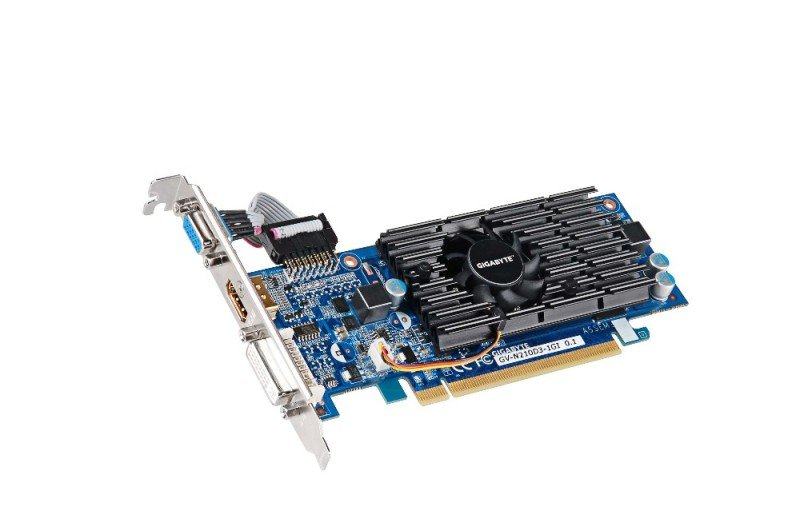 Gigabyte GeForce G210 1GB DDR3 VGA DVI HDMI Low Profile PCI-E Graphics Card