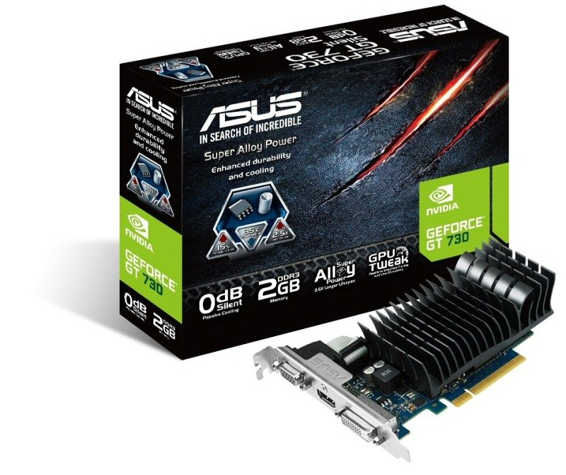 Asus GeForce GT 730 Silent 2GB DDR3 VGA DVI HDMI PCIE Graphics Card