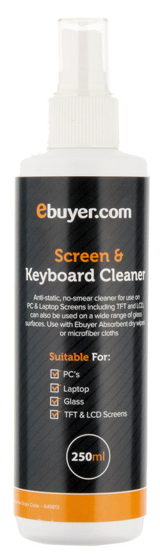 Ebuyer.com Screen & Keyboard Cleaning Spray - 250ml