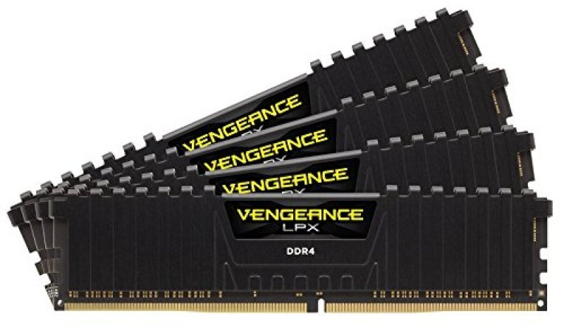 Corsair Vengeance 32GB (4x8GB) LPX DDR4 Black 2400Mhz C14
