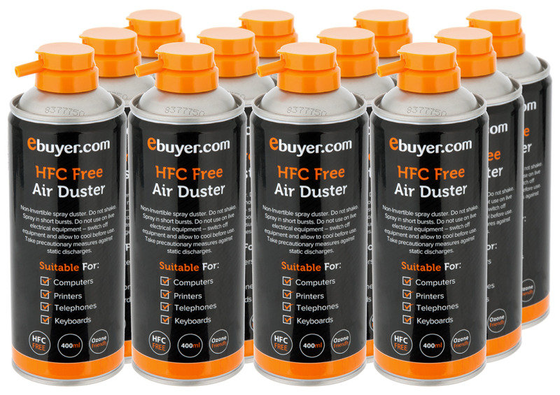 Ebuyer.com Air Duster  400ml  12 Pack