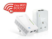 TP-Link TL-WPA4226KIT AV500 Passthrough Powerline WiFi Extender Kit