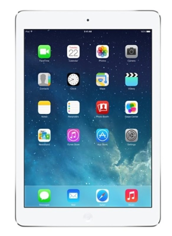 Image of Apple iPad Air 2, A8X CPU, 64GB Flash, 9.7in Retina, Wifi, 2 Cameras Bluetooth, Apple OS - Silver