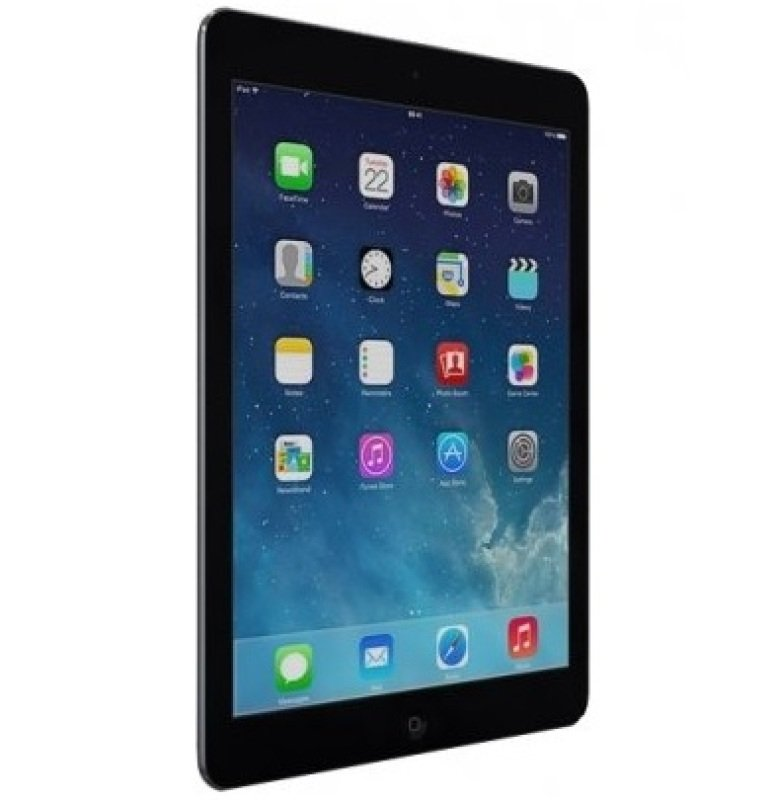 Image of Apple iPad Air 2, A8X CPU, 128GB Flash, 9.7in Retina, Wifi, 2 Cameras Bluetooth, Apple OS - Space Grey