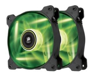 Corsair Air Series SP120 LED Green High Static Pressure 120mm Fan Twin Pack