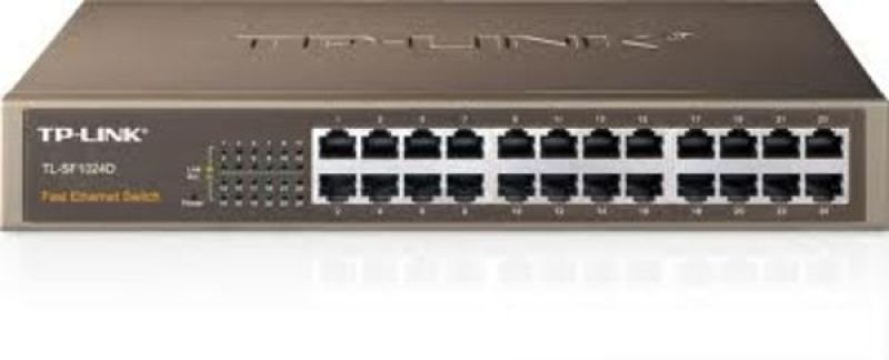 TP-Link TL-SF1024D 24-port 10/100 Rackmount Unamanged Switch