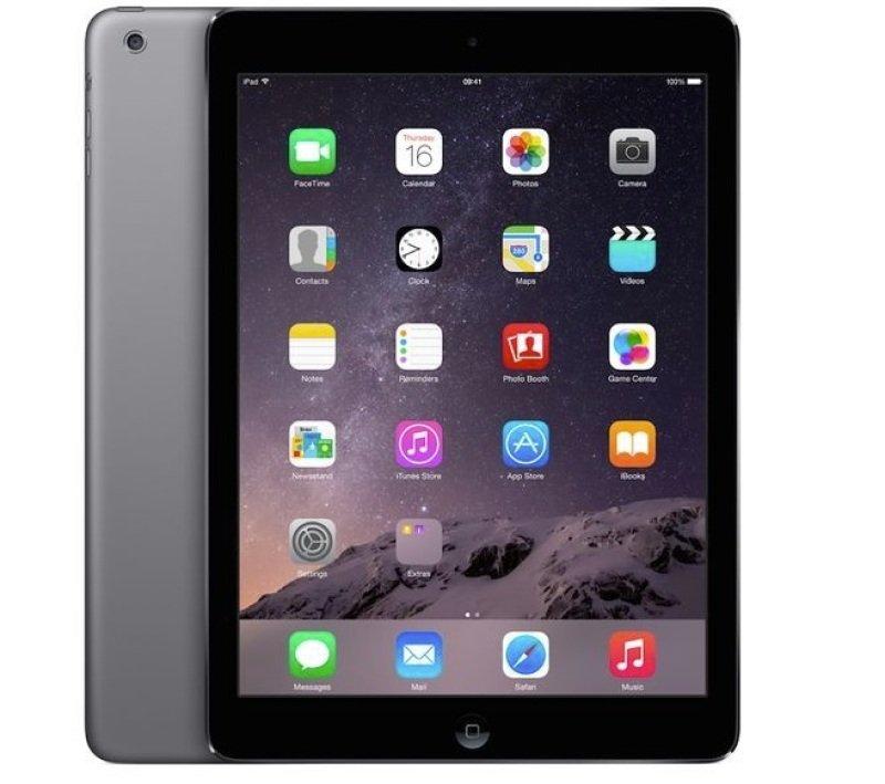 "Image of Apple iPad Air 16GB Wifi, A7 CPU Chip, 16GB Flash, 9.7"" Retina Display, Wifi, Bluetooth, 2 Cameras, Apple iOS 9 - Space Grey"