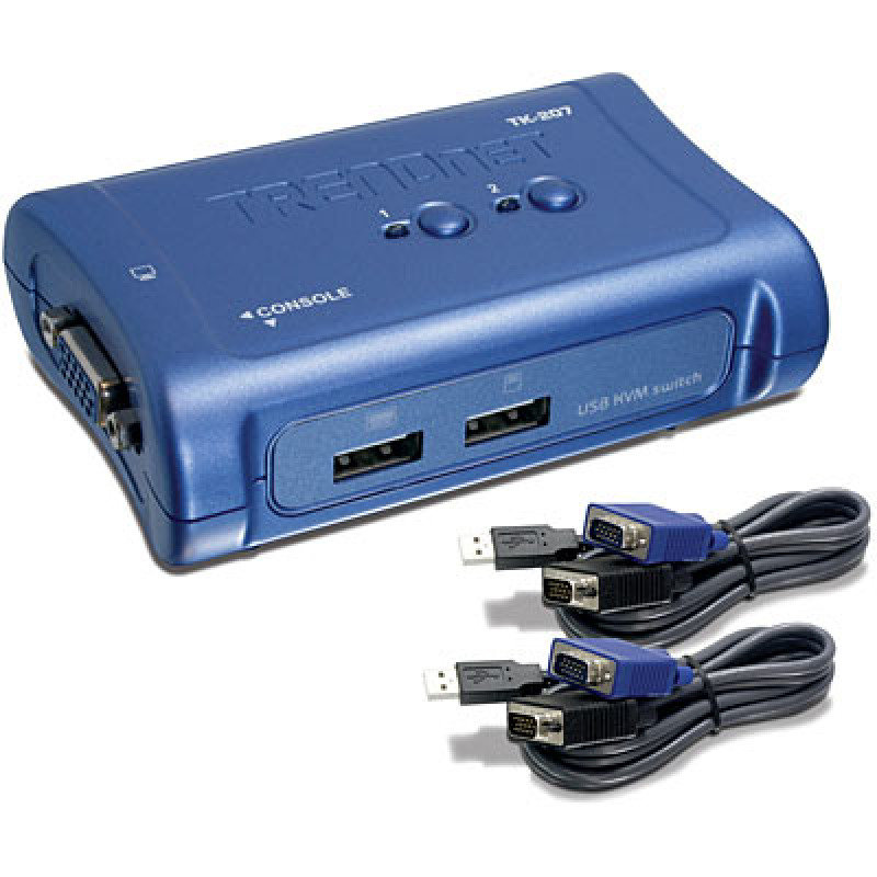 Trendnet 2-Port USB KVM Switch Kit