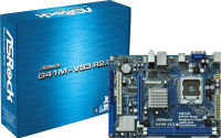 ASRock G41M-VS3 R2.0 G41 775 Socket 8 Channel HD Audio mATX Motherboard