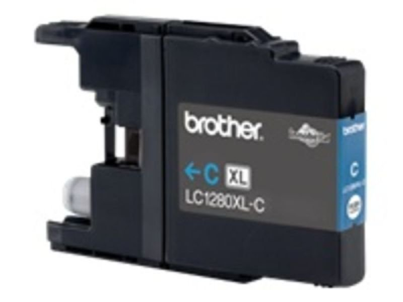Brother LC1280XLC High Yield Cyan Ink Cartridge - 1,200 Pages