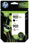 HP 901XL Black and 901 Colour twin pack ink cartridge - SD519AE