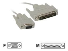 C2G, DB9F to DB2Modem Cable, 3m