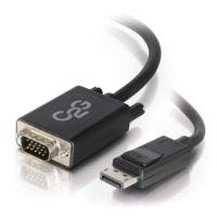C2G 2m DisplayPort to VGA Adapter Cable - DP to VGA - Black