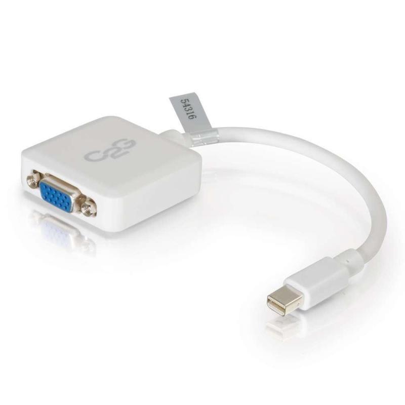 20cm Mini DisplayPort M to VGA F WHT