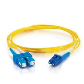 C2G 3m LC-SC 9/125 OS1 Duplex Singlemode PVC Fibre Optic Cable (LSZH) - Yellow