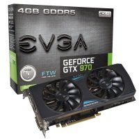 EVGA GTX 970 FTW GAMING ACX 2.0 4GB GDDR5 Dual DVI HDMI DisplayPort PCI-E Graphics Card