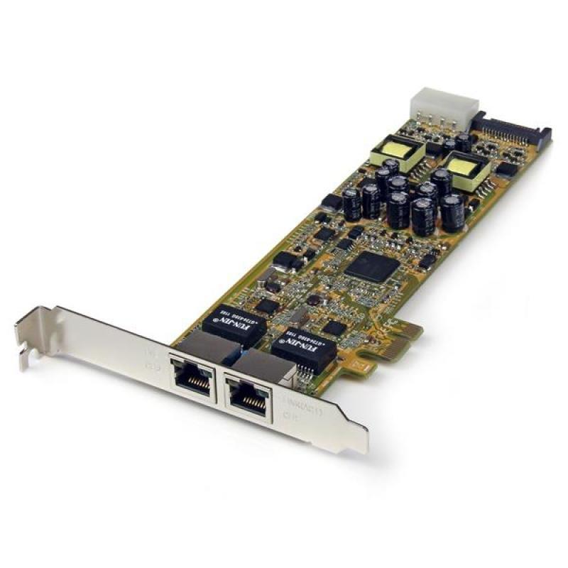 StarTech.com 2 Port PoE Card - Gigabit Ethernet NIC Adapter Card