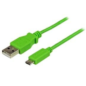 1m Green Mobile Charge Sync Usb To Slim Micro Usb Cable For Smartphones And Tablets - A To Micro B