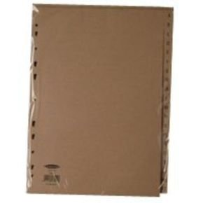 Extra Value 20 Part Buff A-Z Index Dividers
