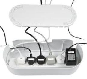 Dline Cable Tidy Unit White