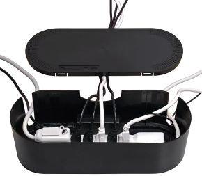 Dline Cable Tidy Unit Black