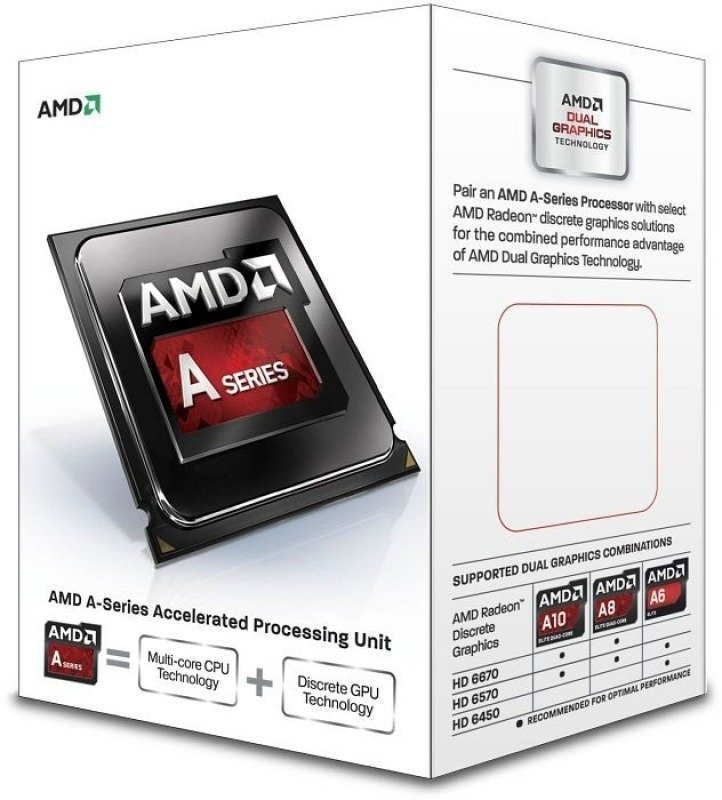 Image of AMD A4 6300 3.7GHz Socket FM2 1MB L2 Cache Retail Boxed Processor