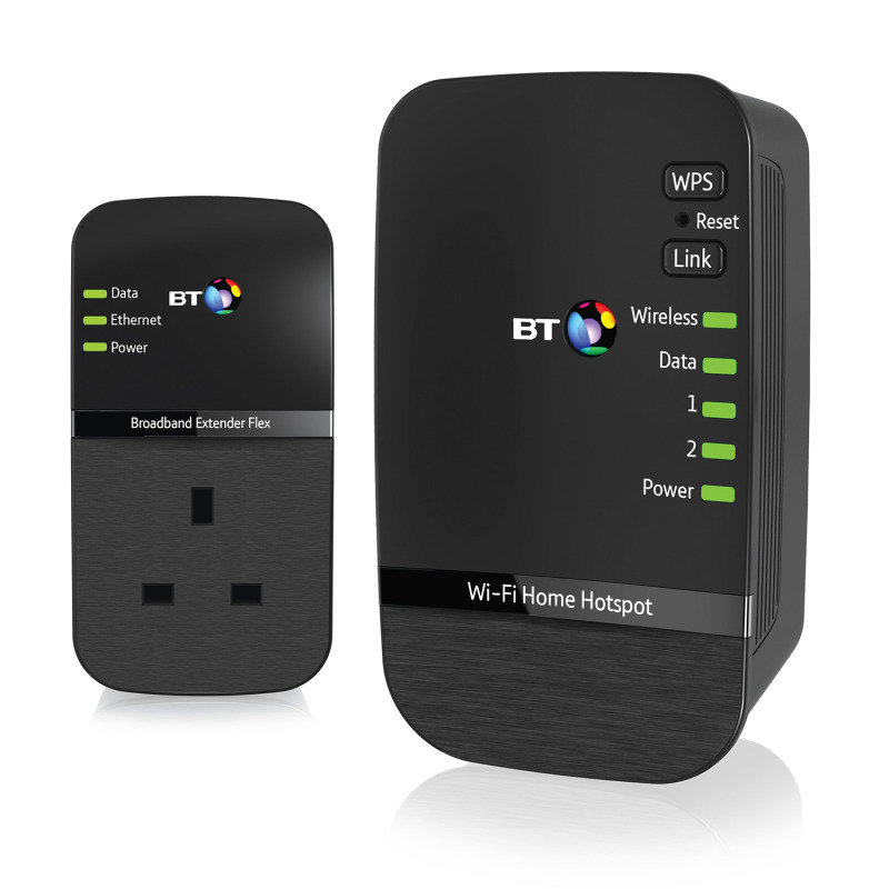 BT Wi-Fi Home Hotspot 500 Wireless Extender Powerline Kit