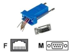 C2G, RJ45/DB9M Modular Adapter Blue