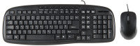 Xenta UK Layout Black Wired Keyboard with Black Optical Scroll Mouse - USB