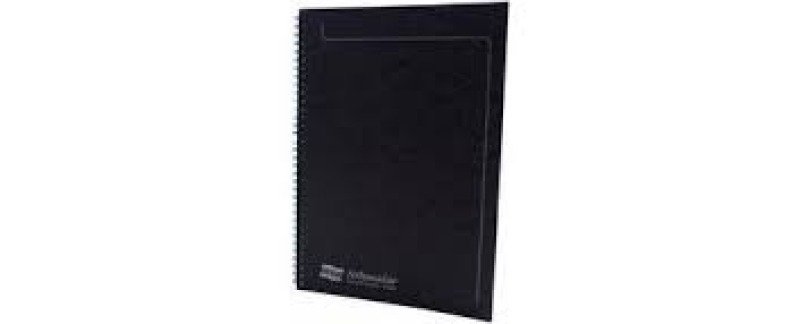 Europa A4 Sidebound Notemaker Black 4862 - 10 Pack