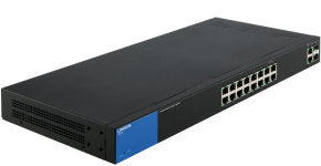 Linksys Business 16-Port Gigabit Smart Managed Switch with 2 Gigabit and 2 SFP Ports (LGS318)