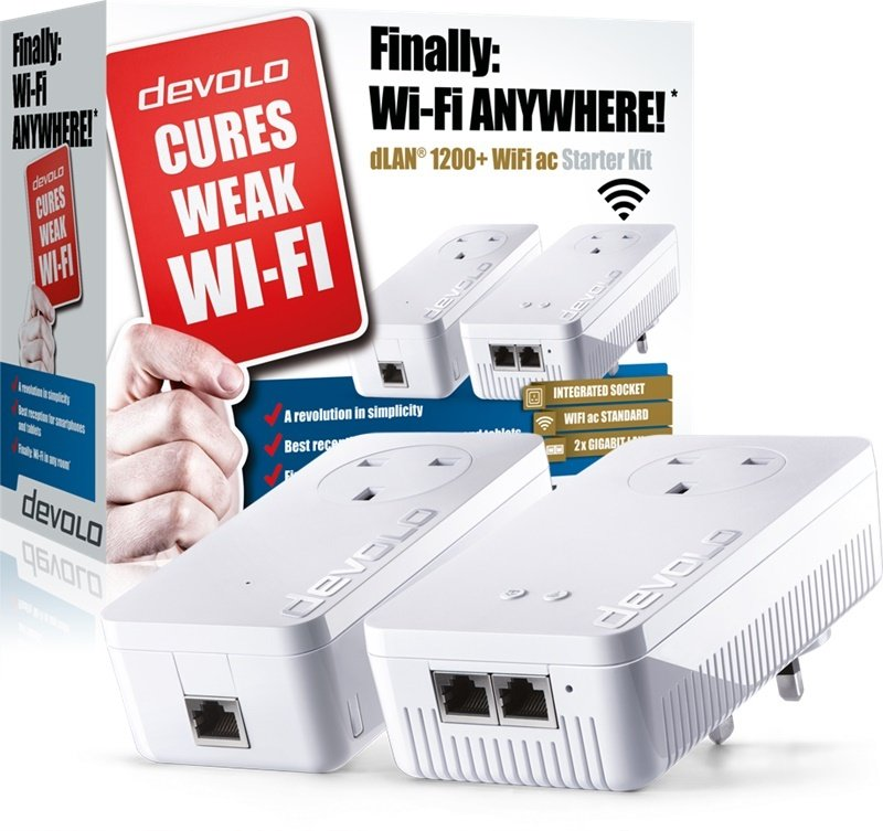 Devolo 9392 - dLAN powerline 1200+ WiFi AC Starter Kit