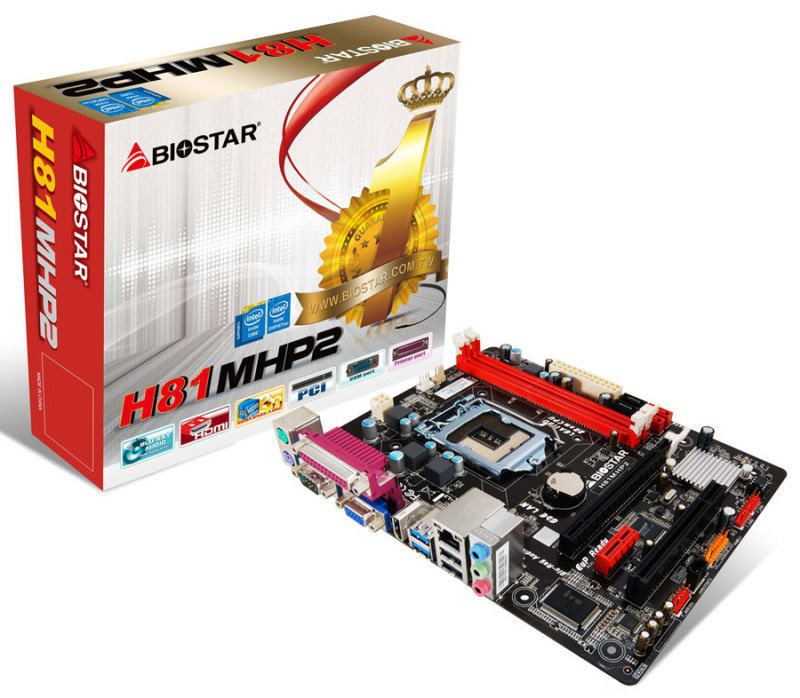 Biostar H81MHP2 Ver. 6.0 socket 1150 VGA HDMI 8-Channel Blu-ray Audio Micro ATX Motherboard