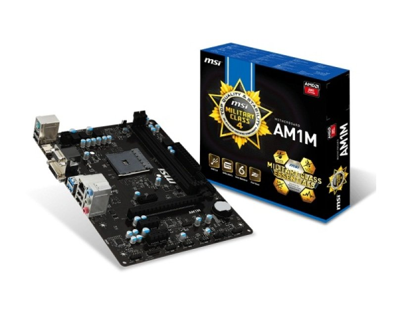 Image of MSI AM1M Socket AM1 VGA DVI HDMI 7.1 Channel Audio mATX Motherboard