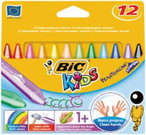 Bic Kids Plastidecor Crayons Assorted