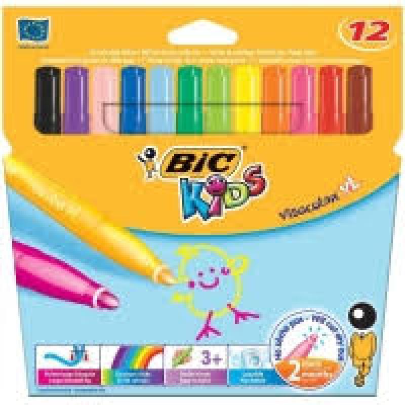 Bic Kids Visa Colour XL Felt Tips Assorted