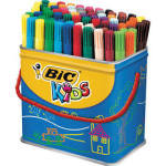 Bic Kids Visa Drum Felt Tips Assorted 84