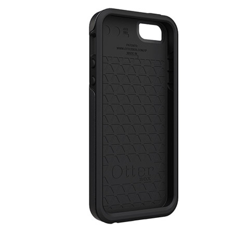 Image of OtterBox Symmetry Series - Protective cover for mobile phone - polycarbonate, synthetic rubber - black - for Apple iPhone 5, 5s