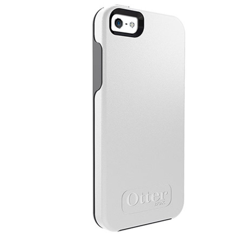 Image of OtterBox Symmetry Series - Protective cover for mobile phone - polycarbonate, synthetic rubber - Glacier - for Apple iPhone 5, 5s
