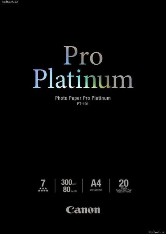 Canon Pro Platinum PT101 A4 300gsm Flagship Photo Paper  20 sheets