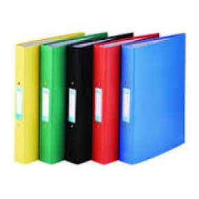 Elba Paper on Board Ring Binder Red